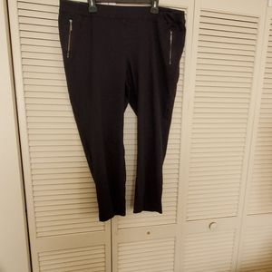 COPLANE BRYANT Black cropped pants with zippe…